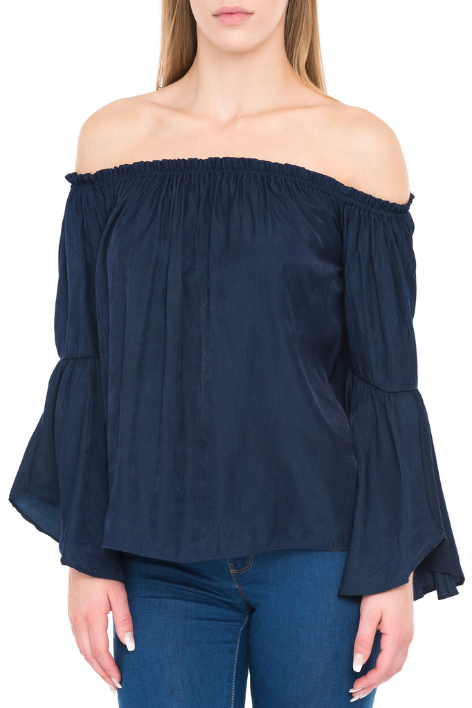 OFF THE SHOULDER BELL SLEEVE TOP