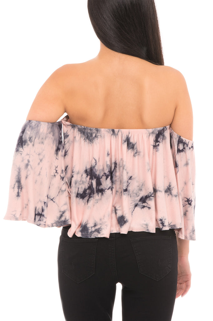 EFFORTLESS TIE DYE CROP TOP