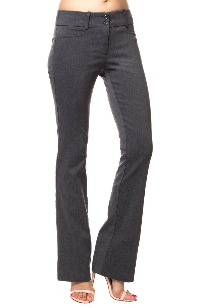 MID RISE BOOTCUT DOUBLE BUTTON PANT