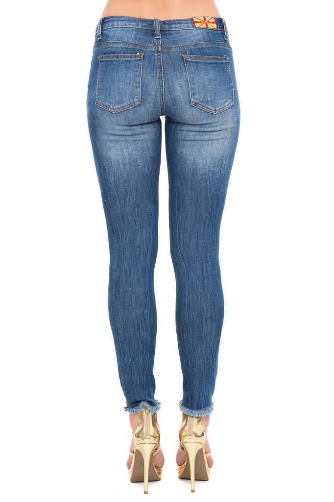 MACHINE BRAND SKINNY JEANS WITH KNEE SLITS