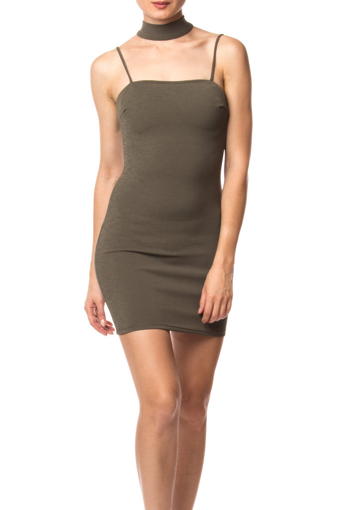CHOKER CAMI MINI DRESS