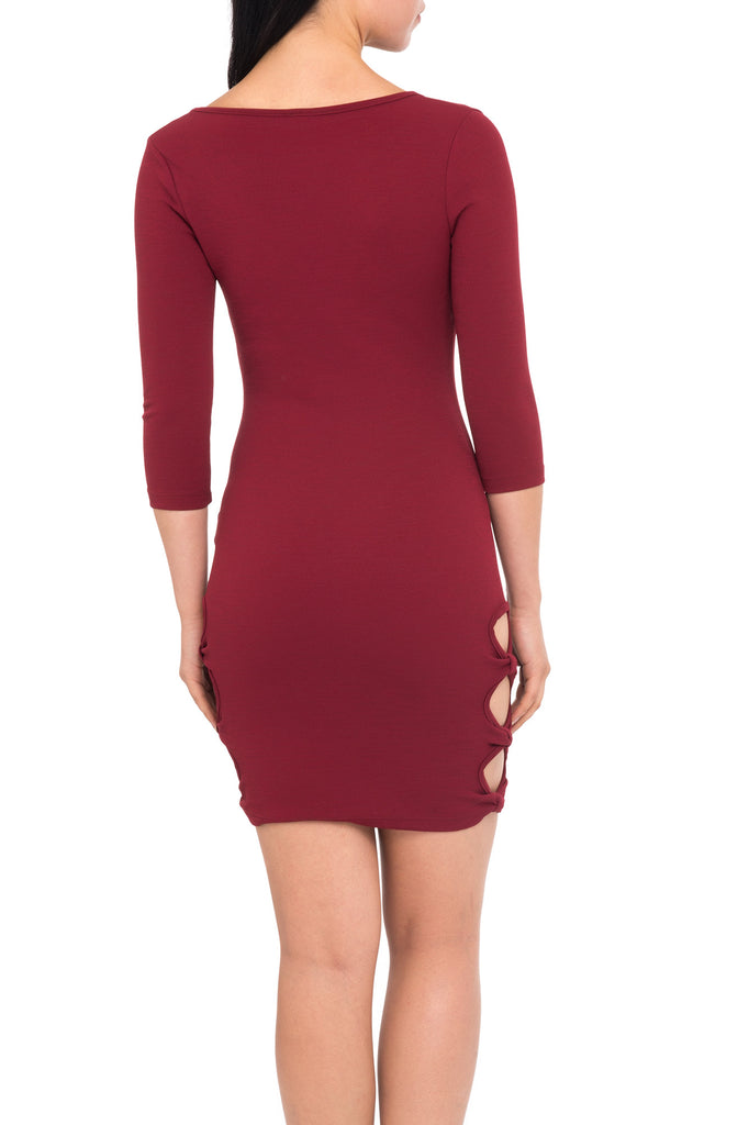 SIDE CUTOUT BODYCON DRESS - PROMO 60% OFF
