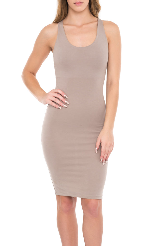 MICRO PIQUE STRING BACK DRESS - PROMO 60% OFF