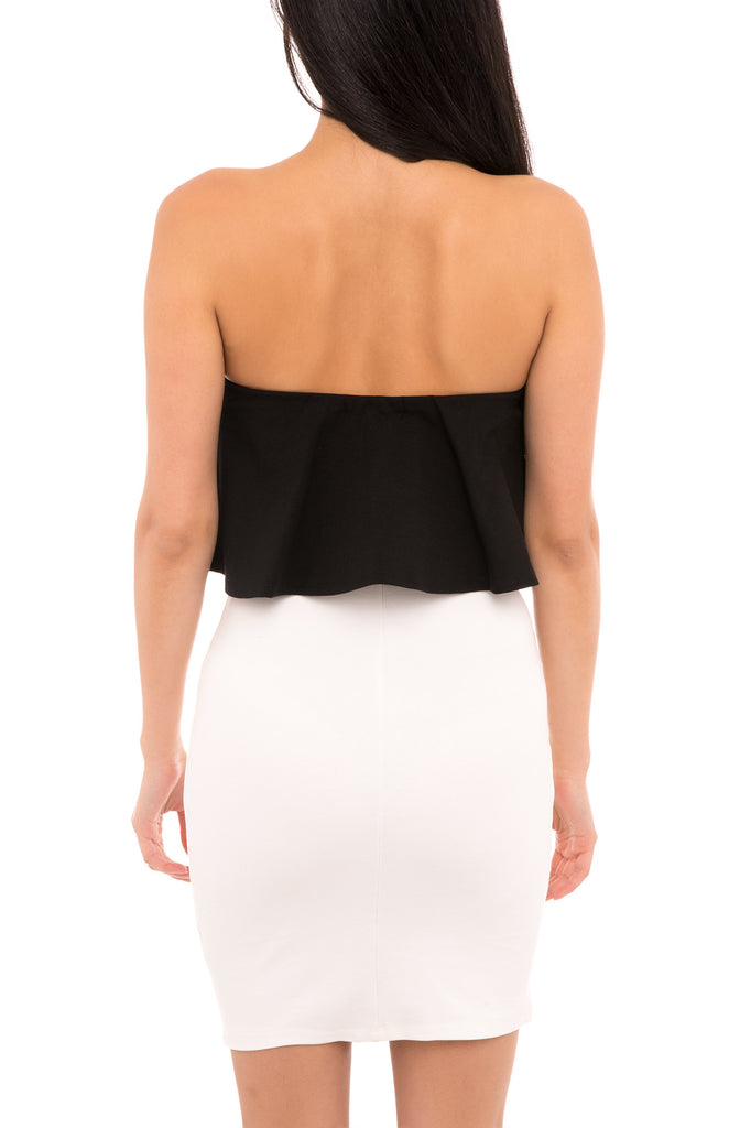 THE OREO STRAPLESS DRESS