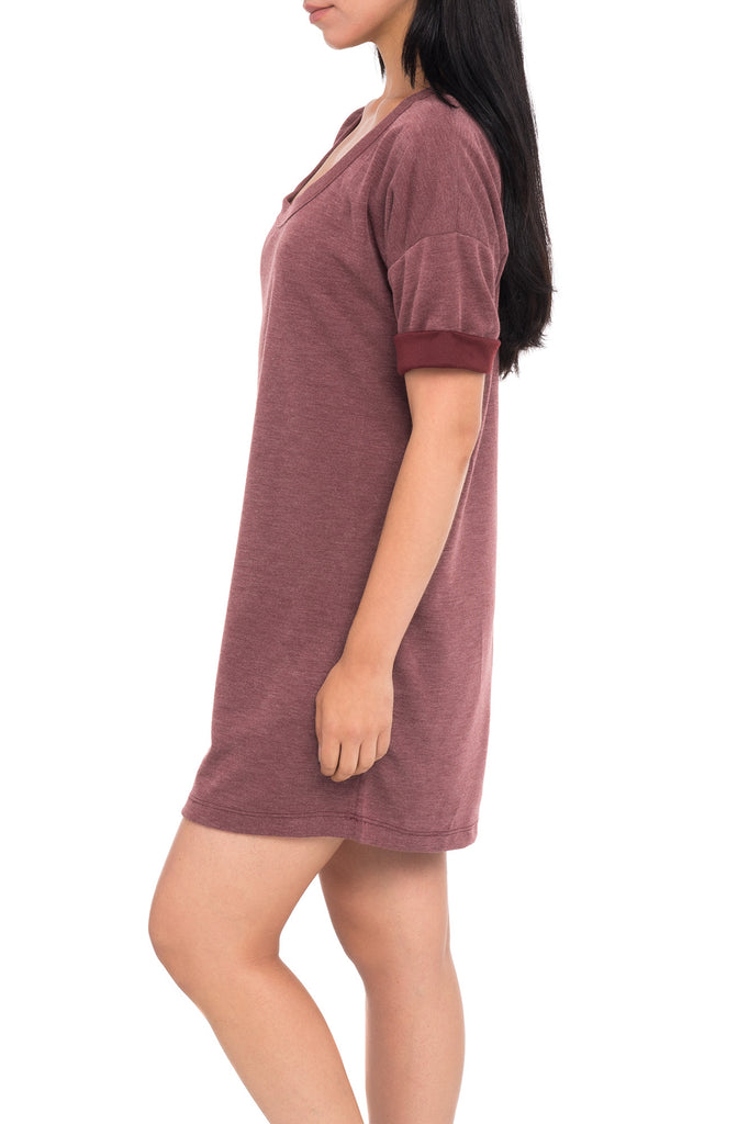 JERSEY LONG SLEEVE SWEAT SHIRT DRESS