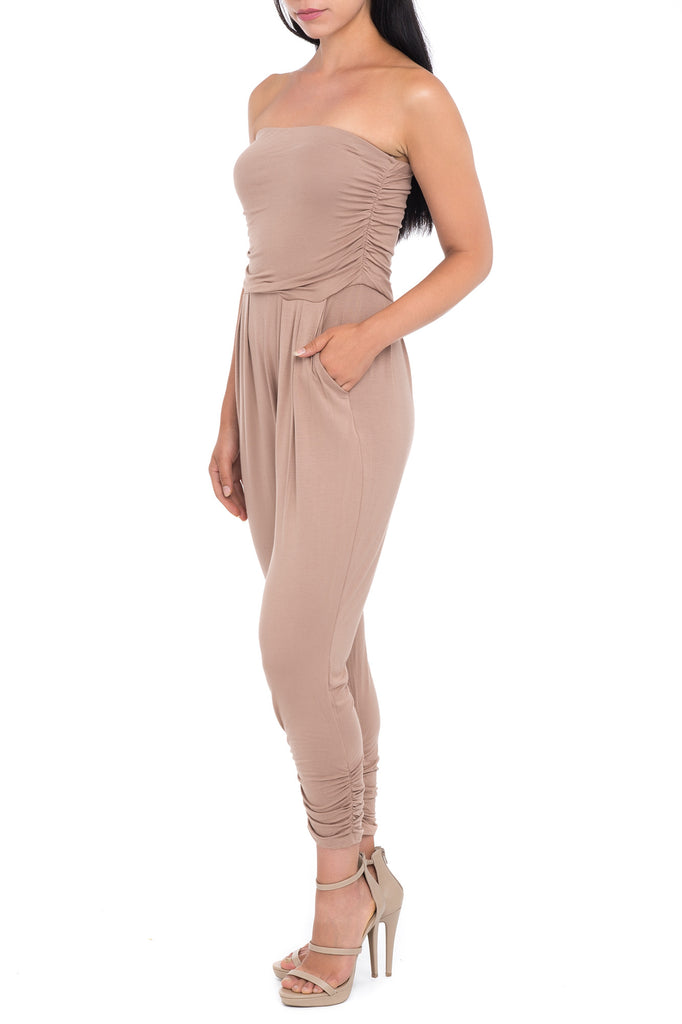 LOOSE FITTING STRAPLESS JUMPER