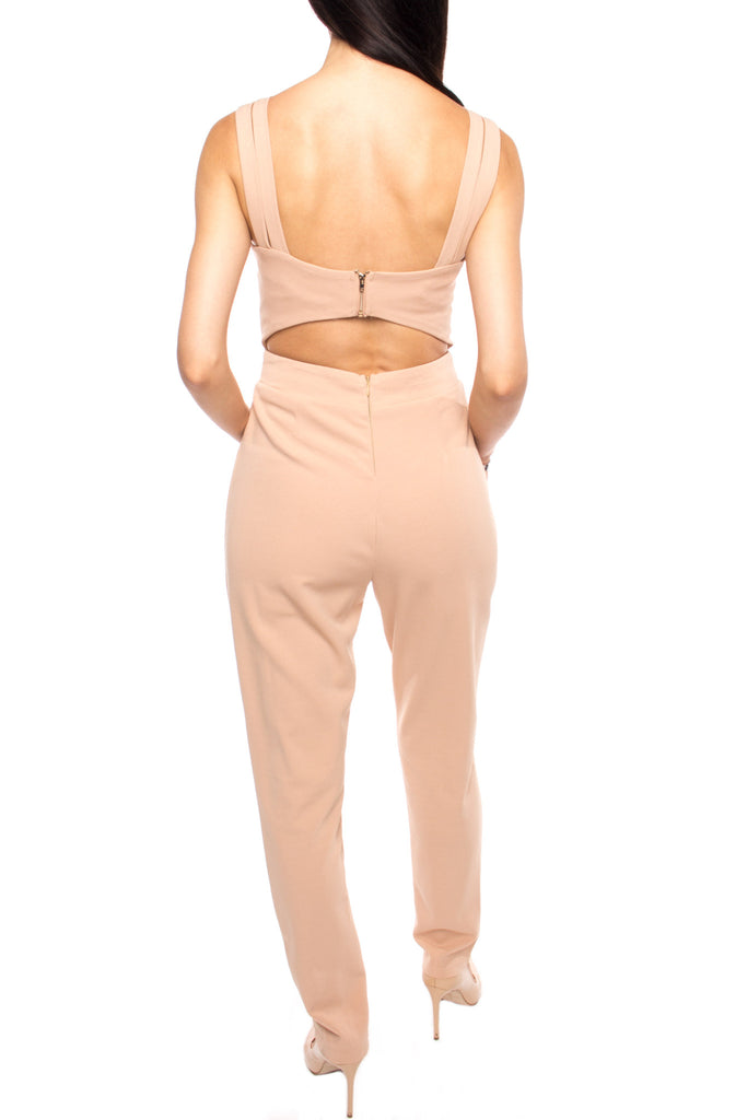 HIGH WAISTED CUTOUT JUMPSUIT