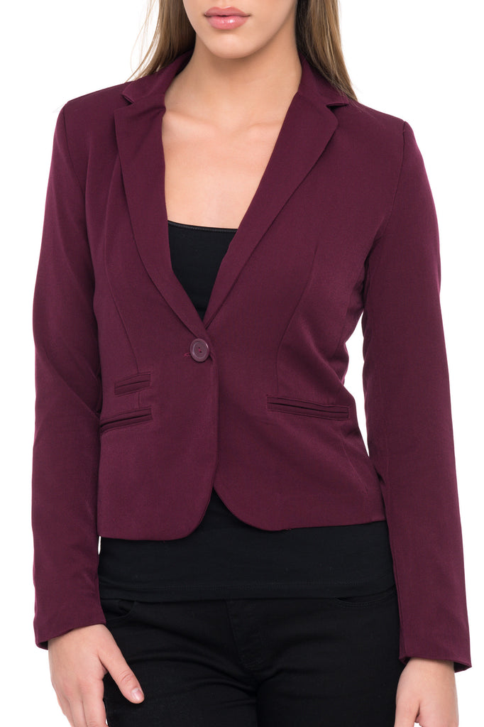 FITTED CUFFED BLAZER