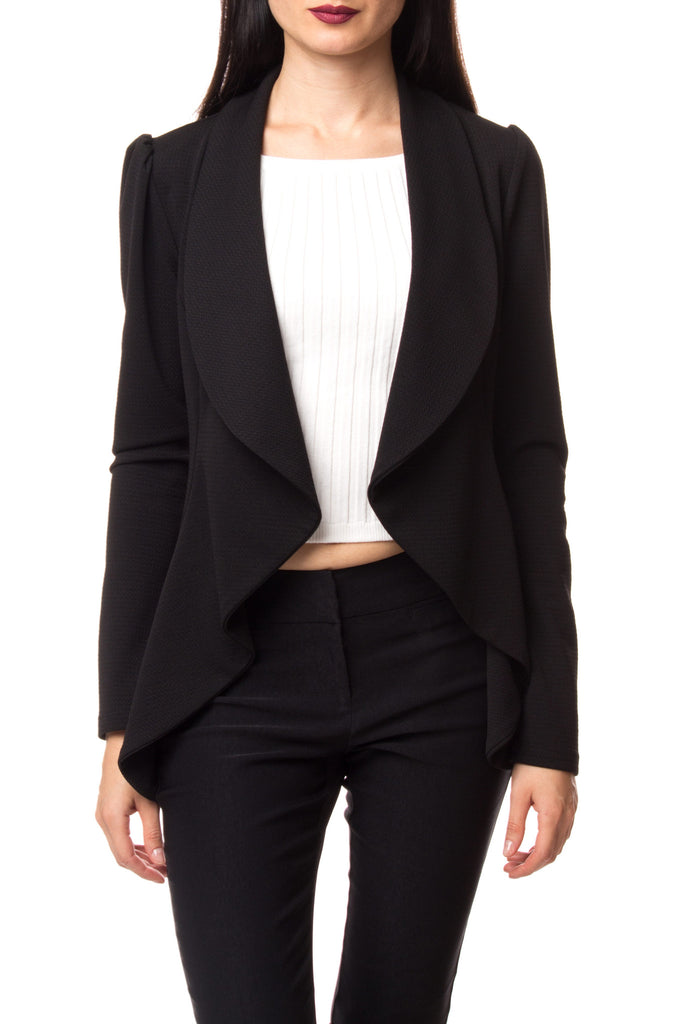 WATERFALL WIDE LAPEL BLAZER