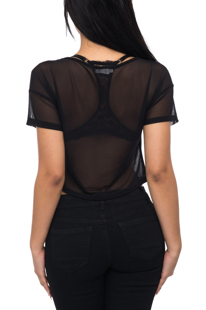 SHORT SLEEVE LIMITED EDITION MESH TOP
