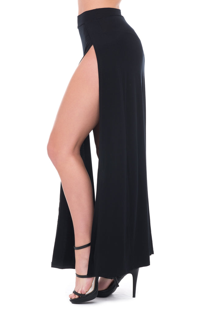 LONG MAXI SKIRT WITH 2 HIGH SLITS ON BOTH SIDES - SALE