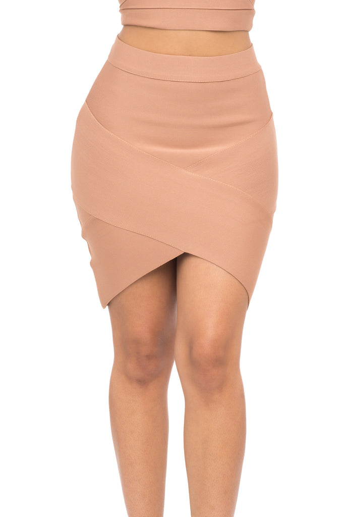 ASYMMETRICAL BANDAGE SKIRT
