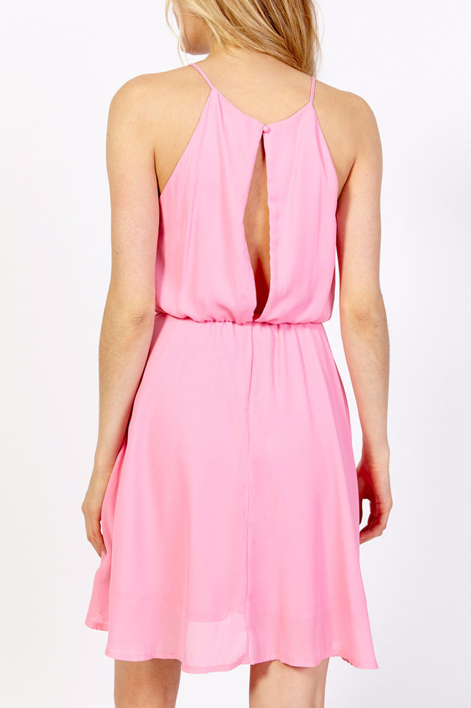 HALTER DROP WAIST SWING DRESS - DOOR CRASHER