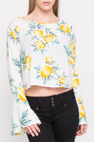 LONG SLEEVE MESH FLORAL BODYSUIT