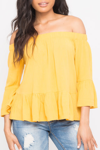 ONE SHOULDER RIB KNIT TOP