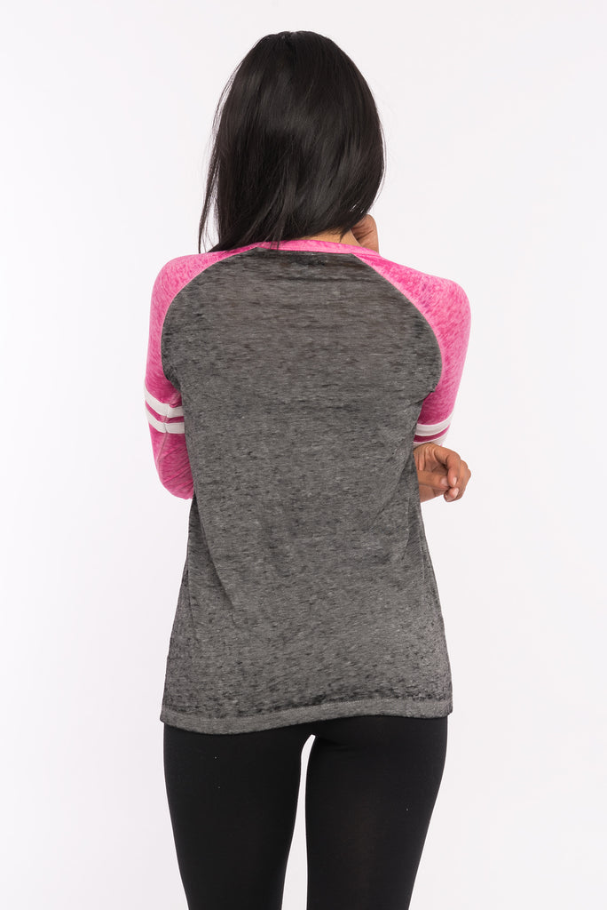 Criss Cross Varsity Long Sleeve Tee