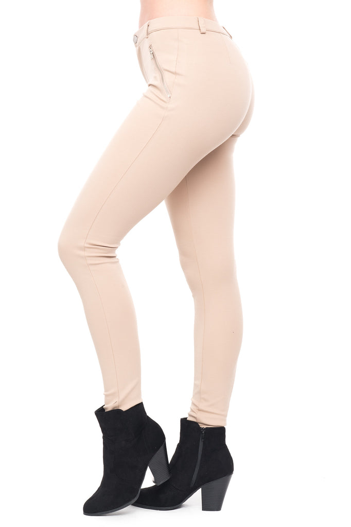 SHINESTAR ZIP POCKET SKINNY PANT