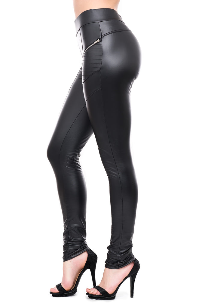 FLEECE LINED MOTO ZIP PANTS