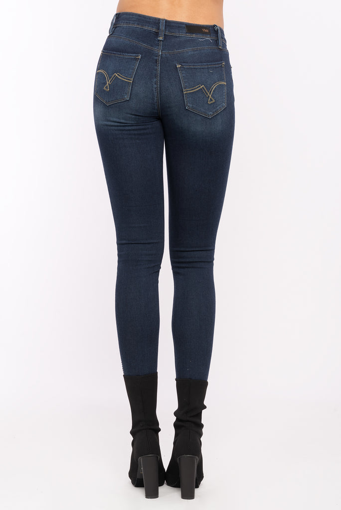 Luxe Mid Rise Bling Ankle Jean
