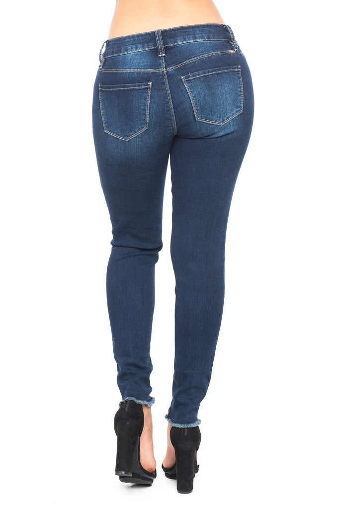 YMI LUXE DISTRESSED SKINNY JEAN