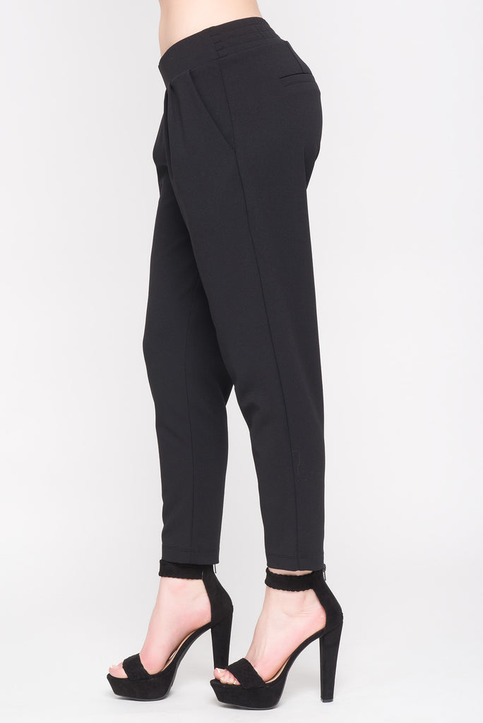 CREPE TROUSER WITH POCKETS