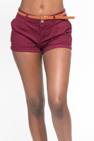 DISTRESSED HIGH RISE CROCHET SHORT