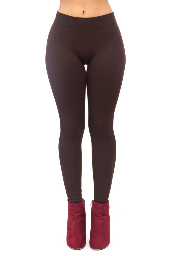 FRENCH TERRY SOLID LEGGING - SALE