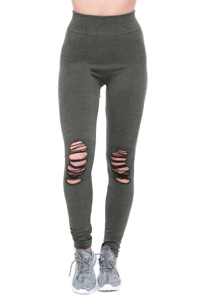 RIPPED KNEE LEGGING