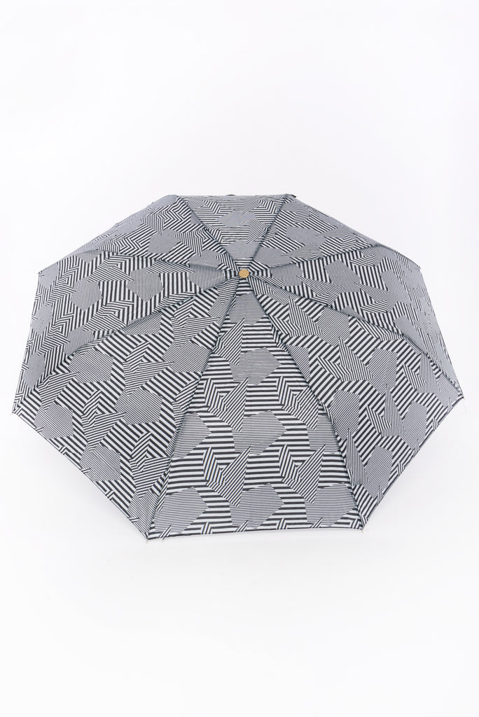 Grey and Black Graphic Umbrella