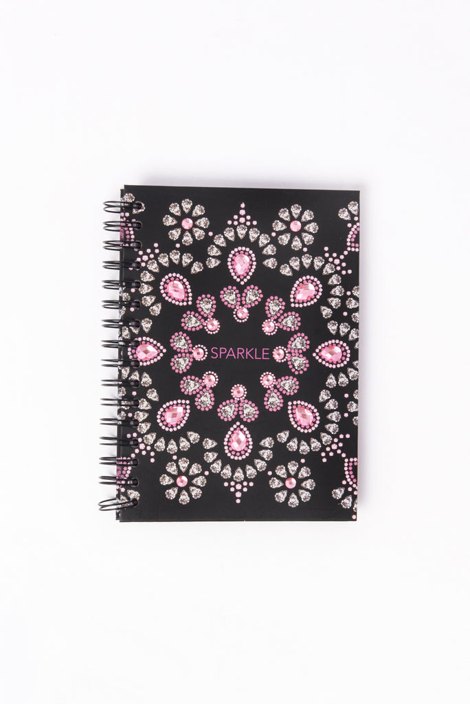 Pink Jewel Sparkle Spiral Notebook