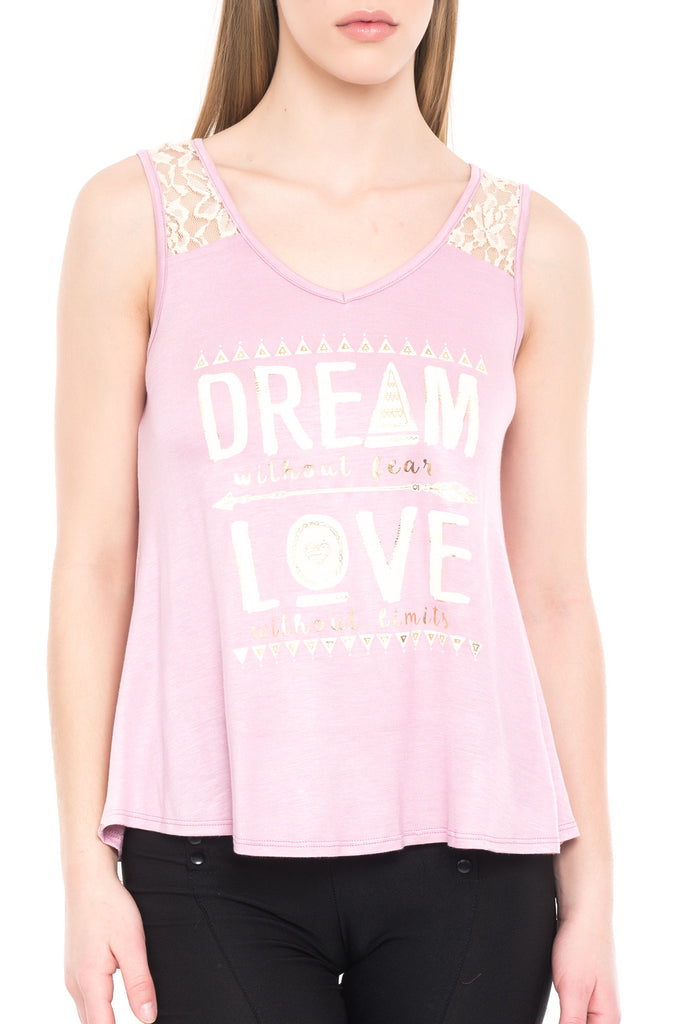 DREAM LOVE LACE TANK