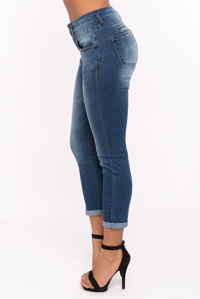 WAX Butt I Love You! High Waist Capri Jean