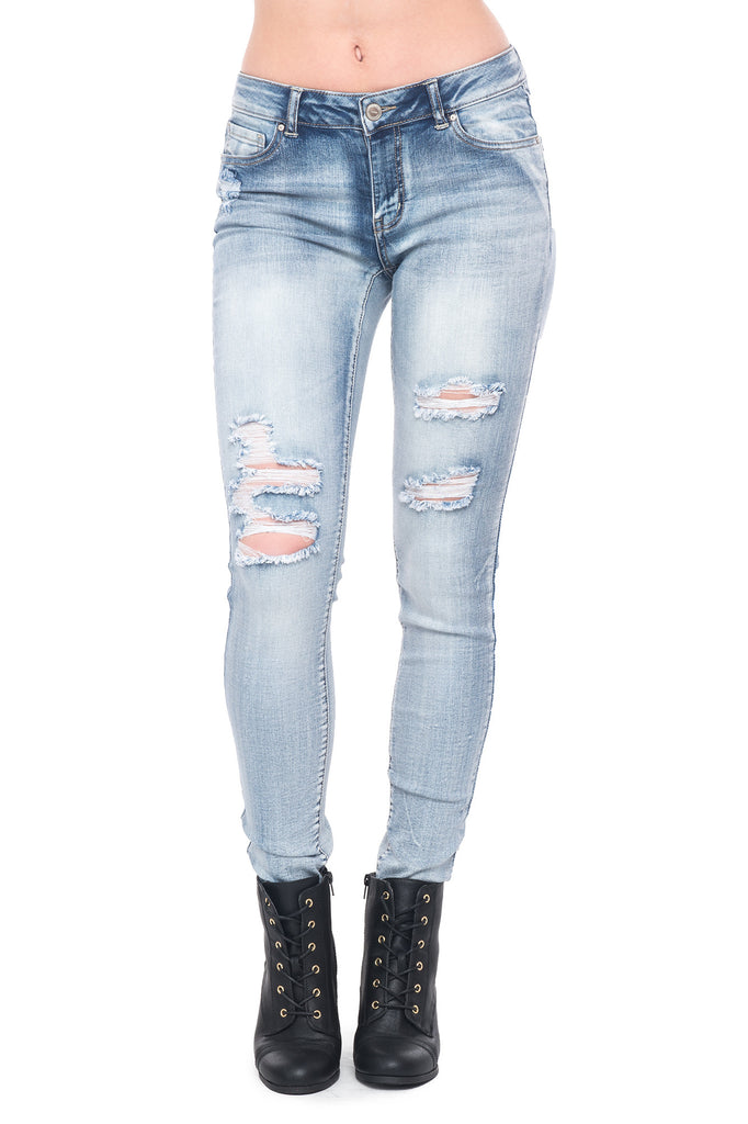 WAX JEAN DISTRESSED SKINNY