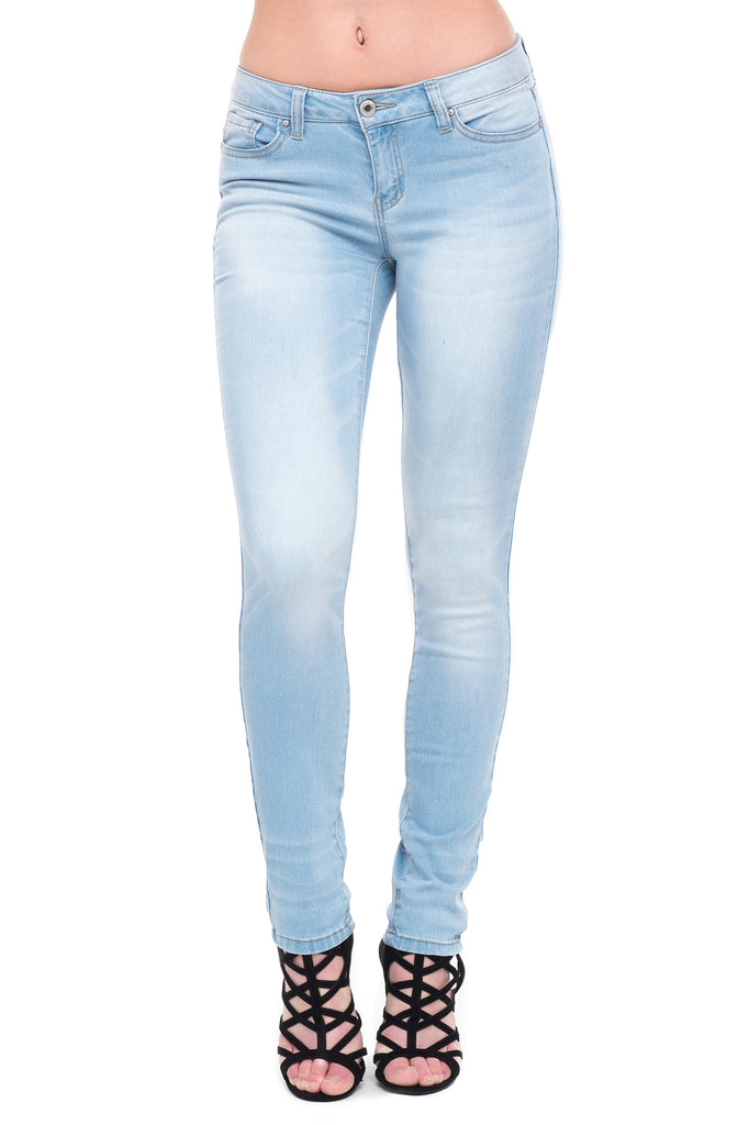 WAX JEAN LOW RISE CUFFED SKINNY