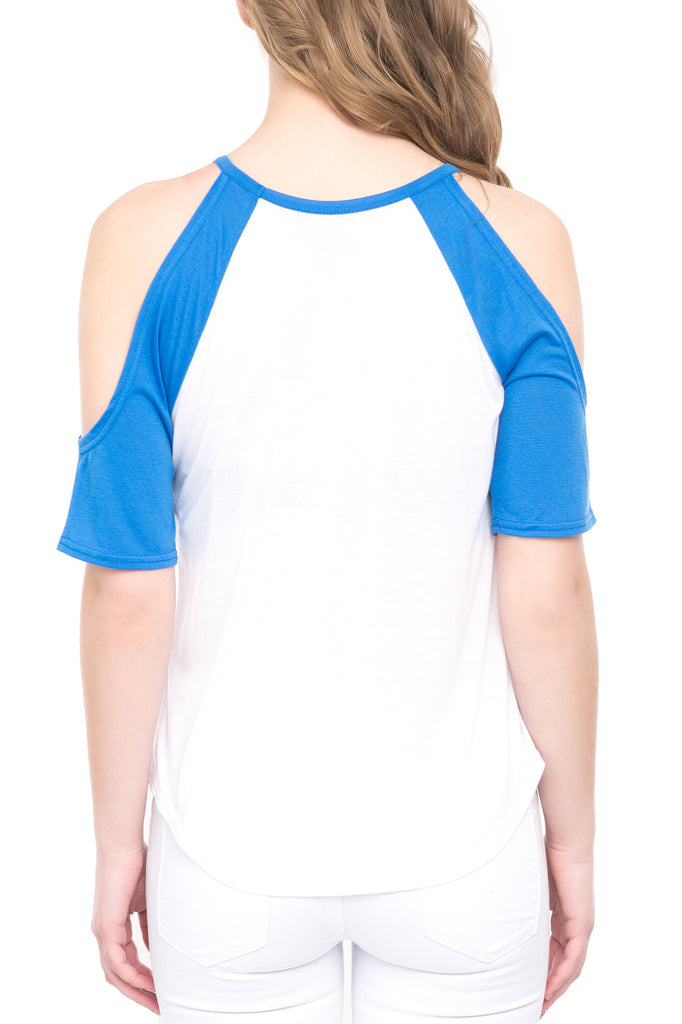 COLD SHOULDER STITCH TOP