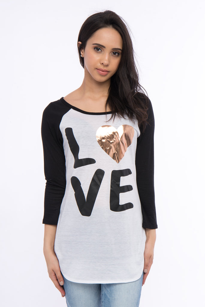 Love Long Sleeve Baseball Tee