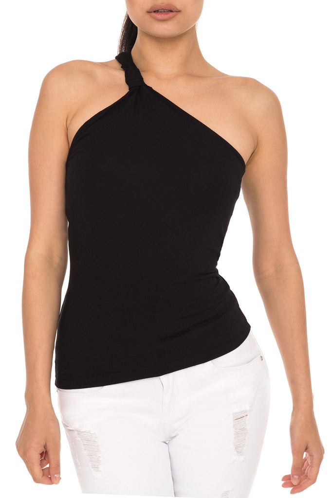 THE ONE SIDED CLASSIC ONE SHOULDER TOP - PROMO 50% OFF