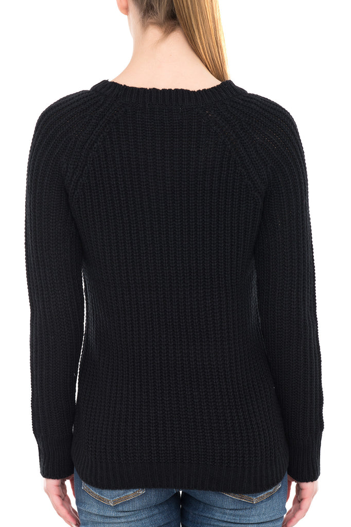 SCOOP NECK SWEATER WITH SIDE ZIPPERS
