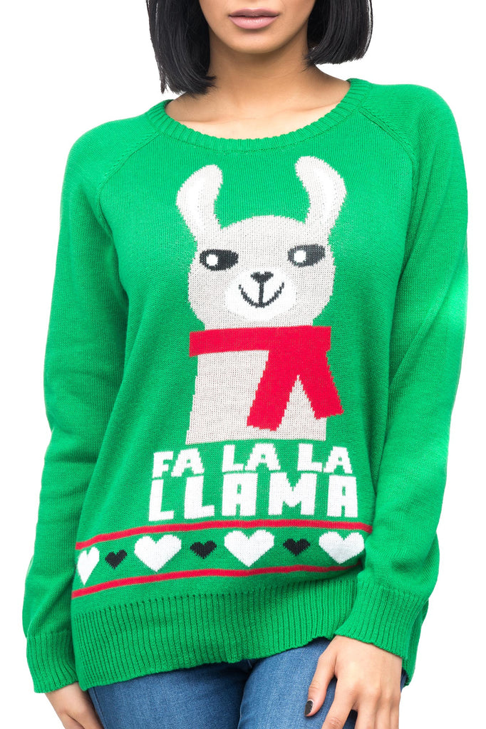 LLAMA CHRISTMAS SWEATER - HOLIDAY