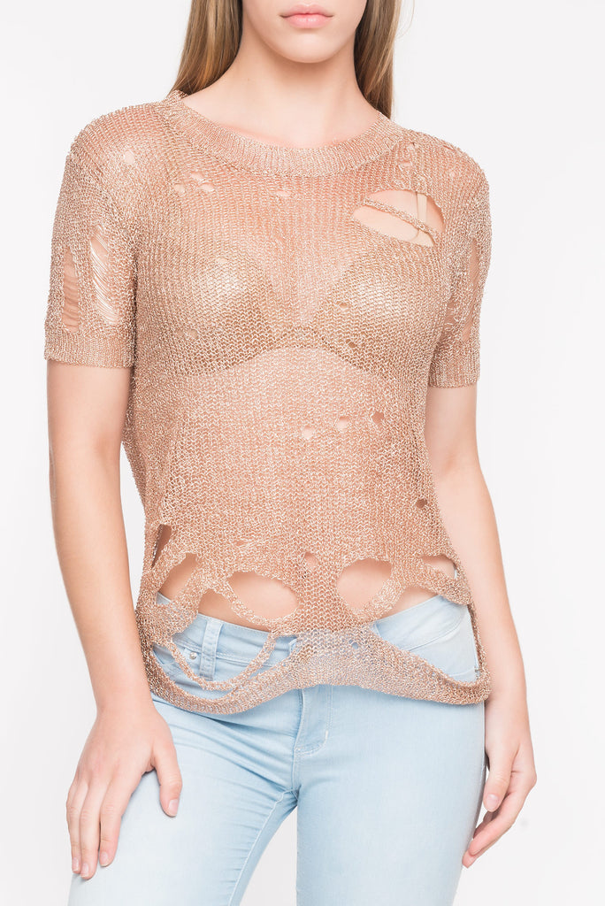 METALLIC CUT OUT TOP