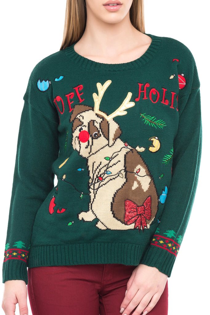 LIGHT-UP DOG HOLIDAY SWEATER - HOLIDAY