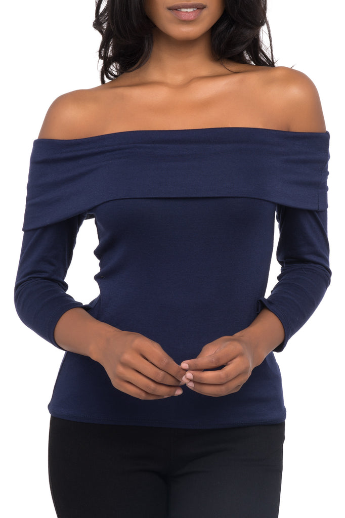 OFF THE SHOULDER FITTED TOP