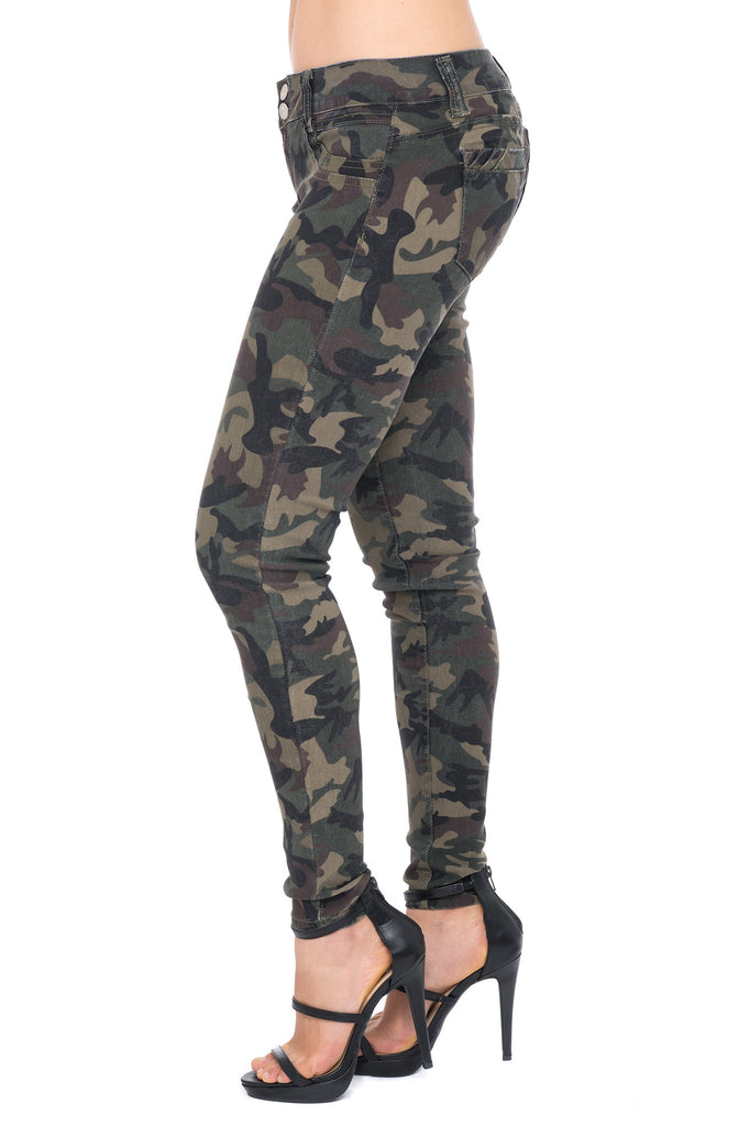 HYPERSTRETCH CAMO PRINT BUTT LIFTER JEAN - $14.90 PROMO