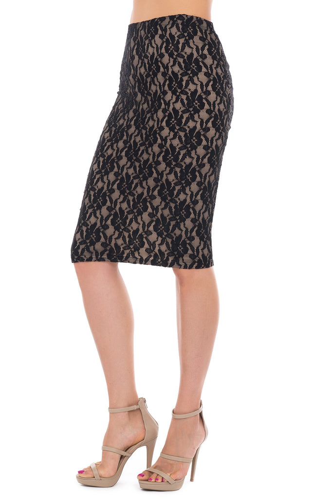 LACE MIDI PENCIL SKIRT - PROMO 50% OFF