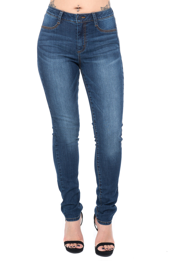 MIDRISE STRETCH SKINNY JEGGING - STYLE STEALS