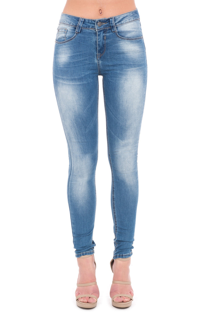 365 DENIM HIGH RISE FADED SKINNY JEAN - STYLE STEALS