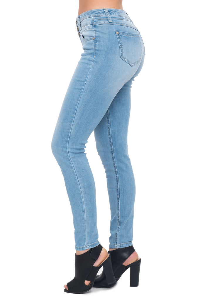 BLUE SPICE 3 BUTTON SKINNY JEANS