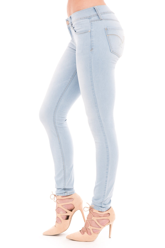 YMI WANNA BETTA BUTT LOW RISE FADED SKINNY JEAN