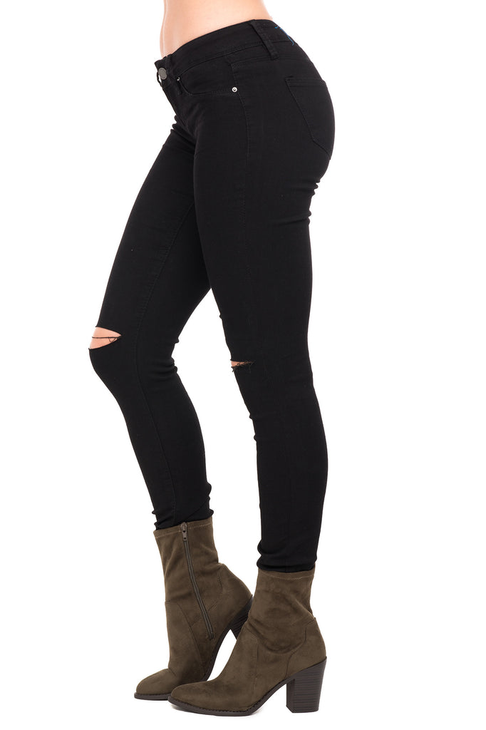 YMI SUPER SKINNY JEANS WITH KNEE SLIT