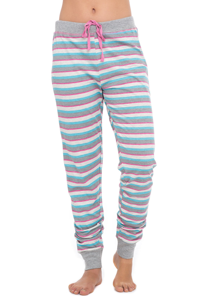 PINK AND GRAY STRIPE JOGGING PANT